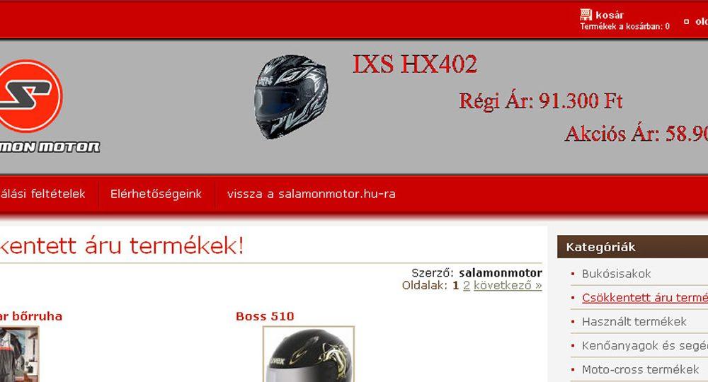 Salamon Motor Webshop