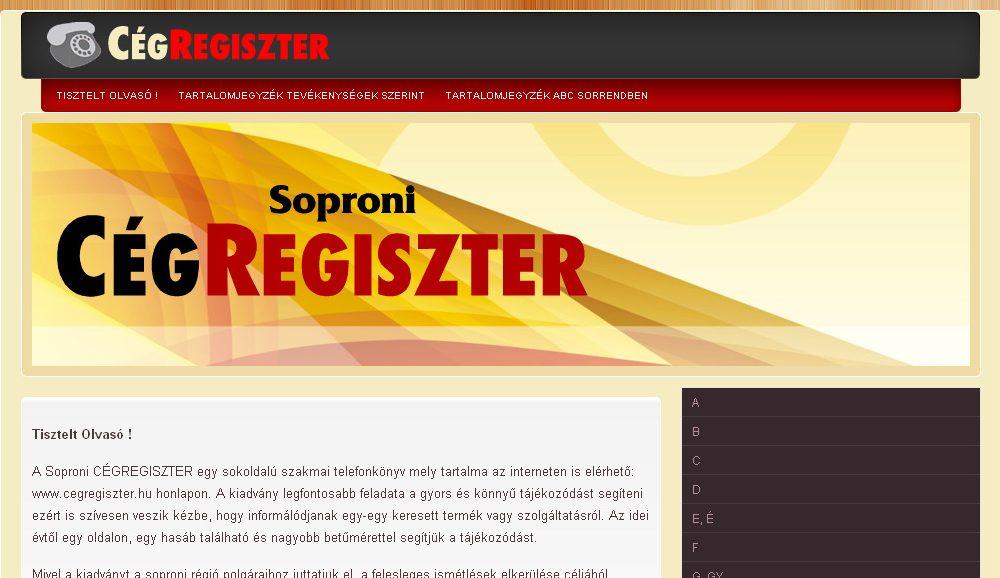 Soproni Cégregiszter 2010
