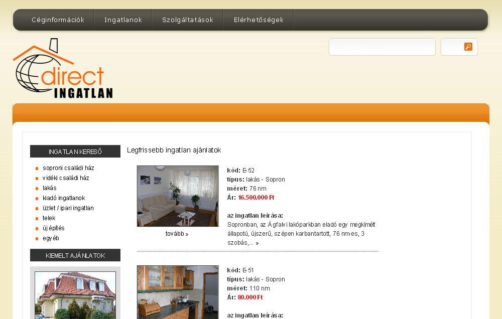 Direct Ingatlan Sopron