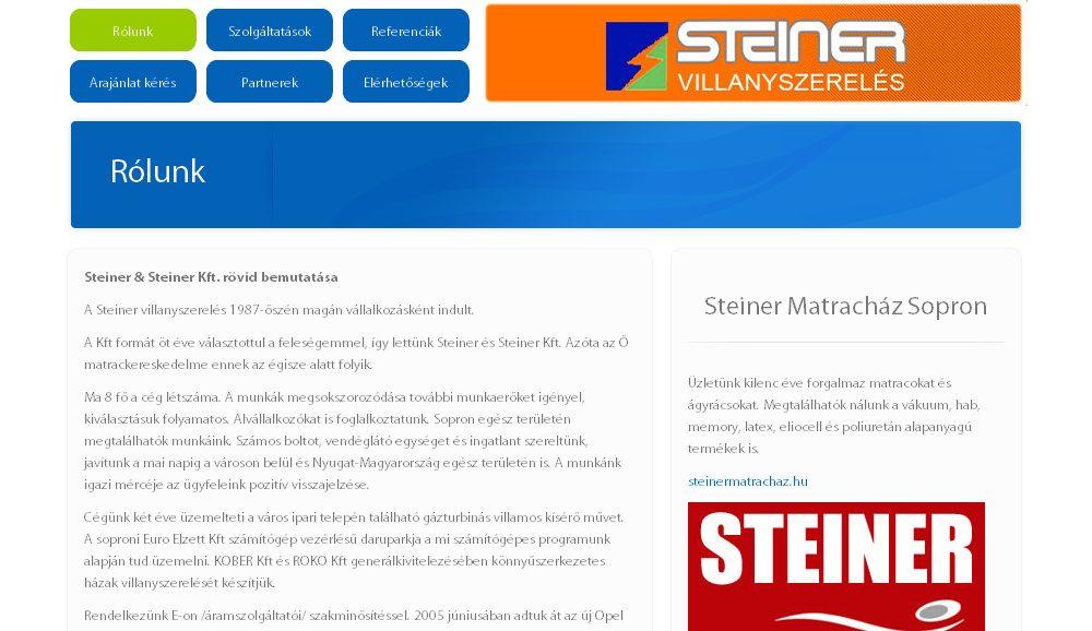 Steiner Villanyszerelés