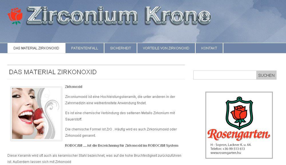 Zirkonium Krone