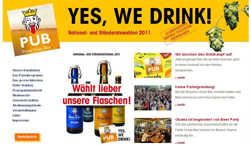 Partei Unser Bier