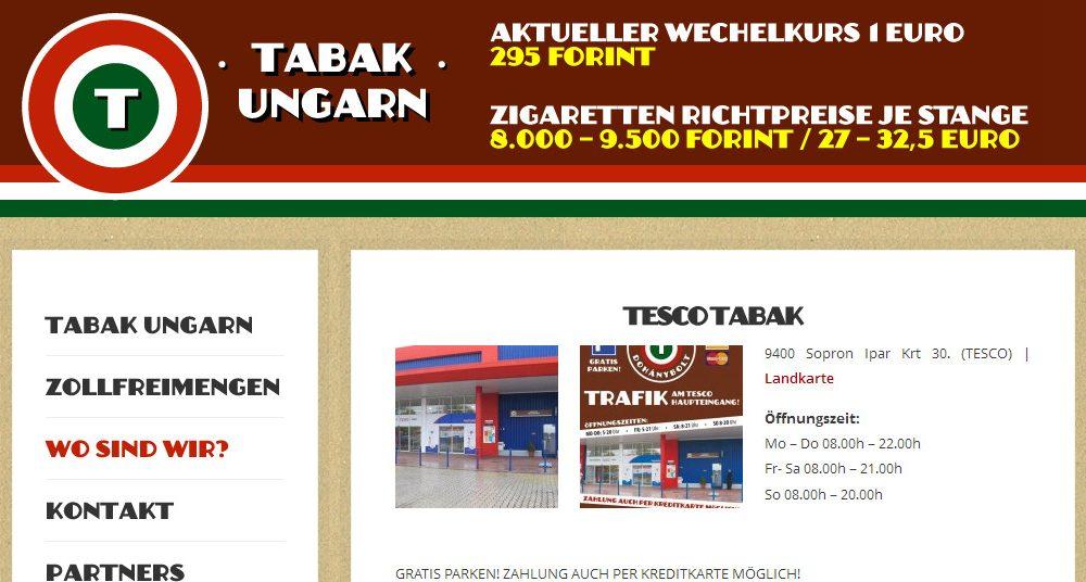 Tabak Ungarn