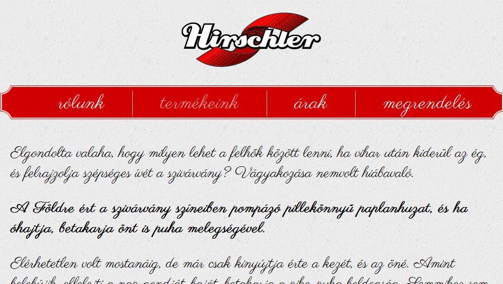 Hirschler Ágynemű