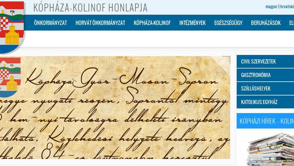 Kópháza honlapja