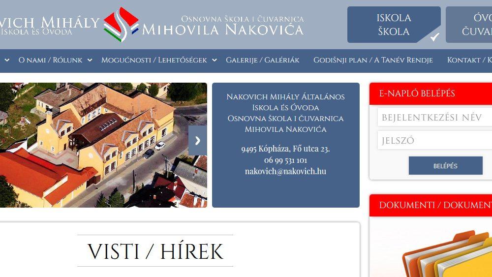 Nakovich Mihály Általános Iskola és Óvoda