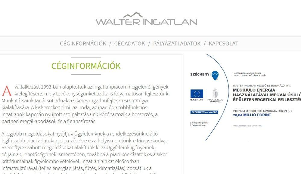 WALTER INGATLAN Kezelő és Beruházó Kft.